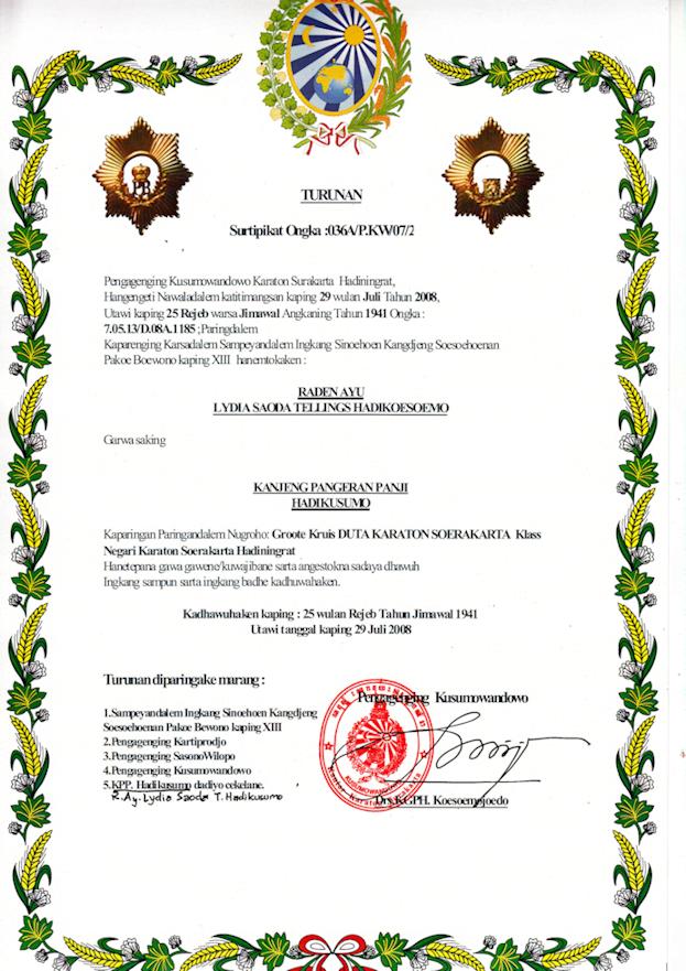 Certificaat Lydia Saoda Tellings Haikusumo